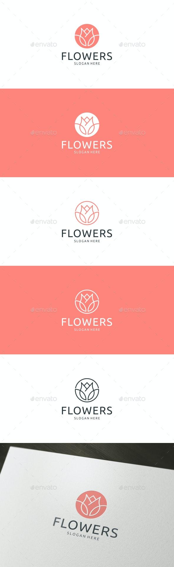 Flower Logo - Nature Logo Templates