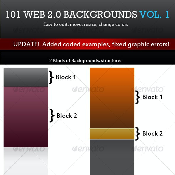 101 Web 2.0 Backgrounds. Mega Pack