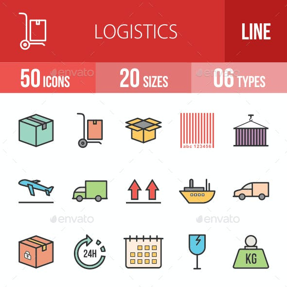 Logistics Filled Line Icons