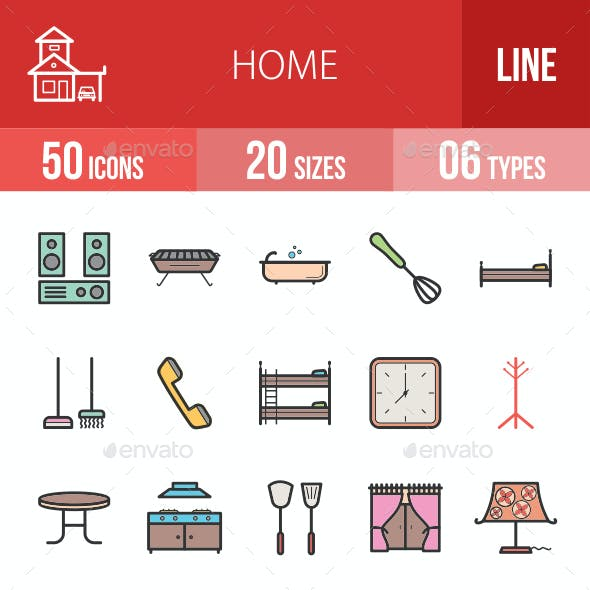 Home Filled Line Icons