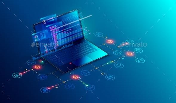 Software Web Development Programming Concept - Computers Technology