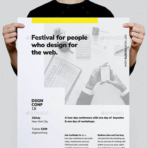 DSGN Series 10 Poster / Flyer Template