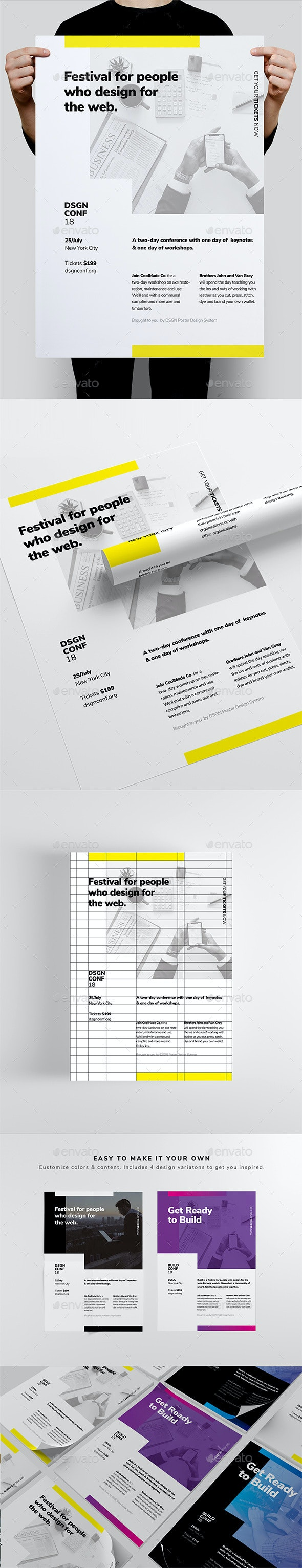 DSGN Series 10 Poster / Flyer Template - Corporate Flyers