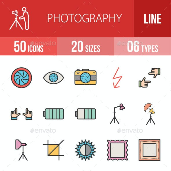Photography Filled Line Icons