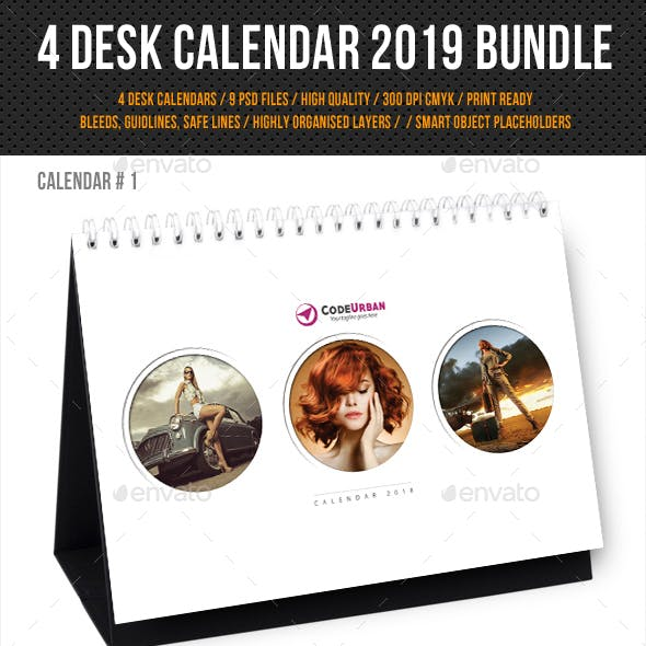 Creative Desk Calendar 2019 Bundle
