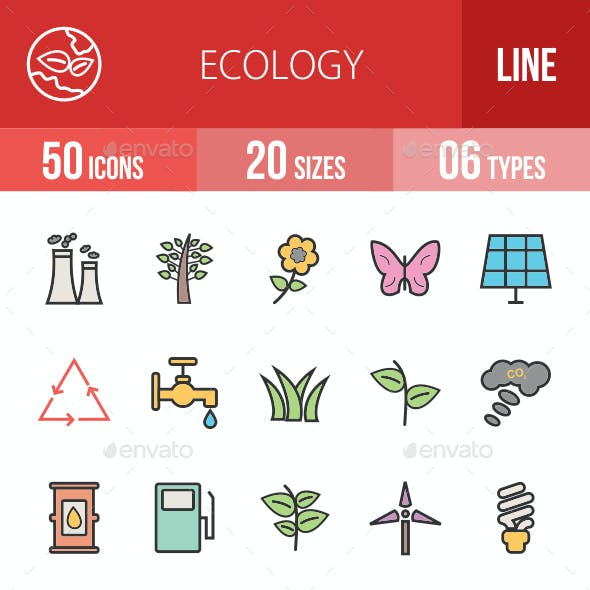 Ecology Filled Line Icons