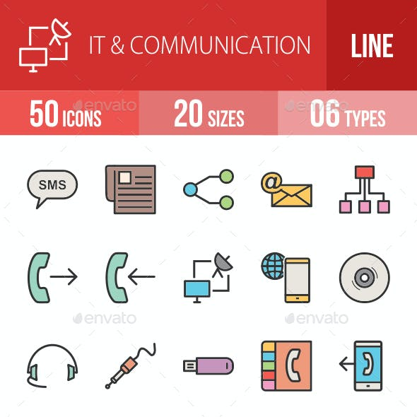 IT & Communication Filled Line Icons