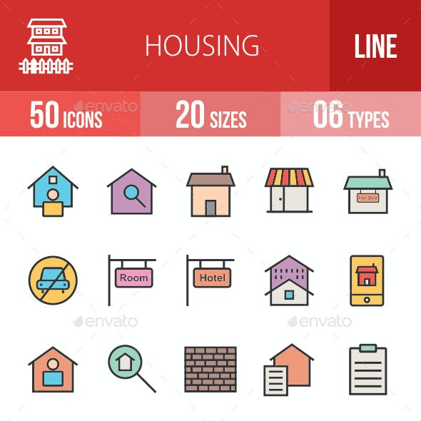 Housing Filled Line Icons