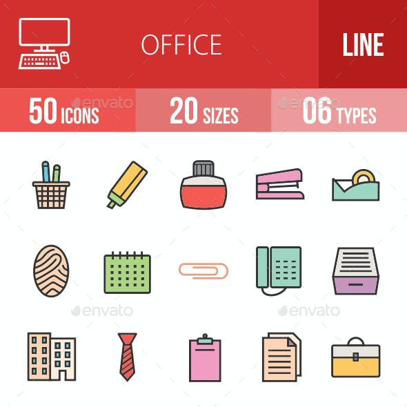 Office Filled Line Icons