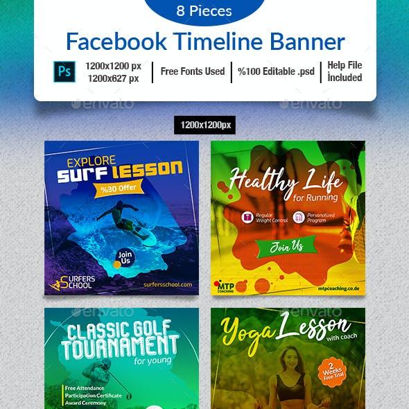 Sports Social Media Banner