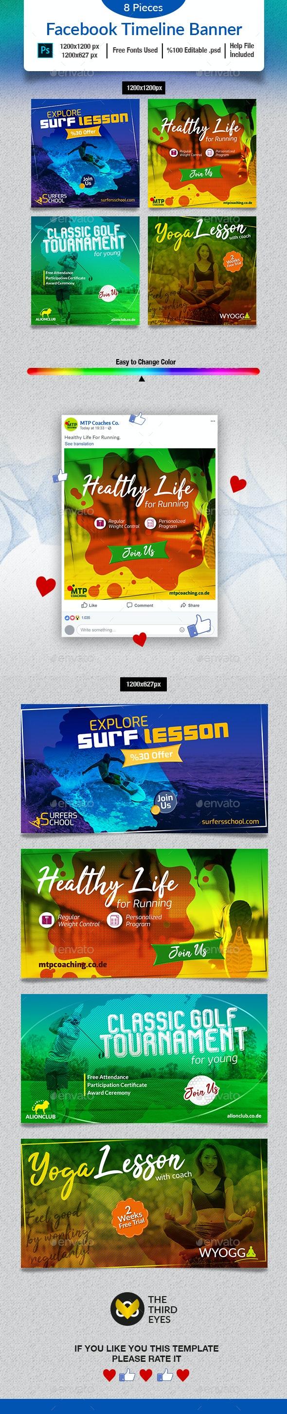 Sports Social Media Banner - Social Media Web Elements