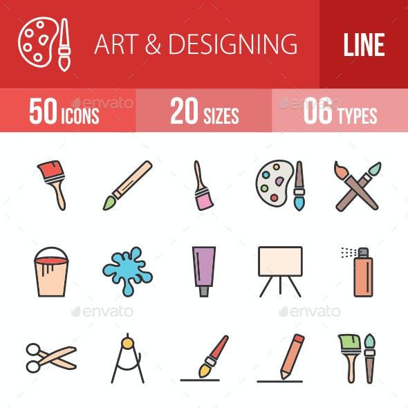 Art & Designing Filled Line Icons