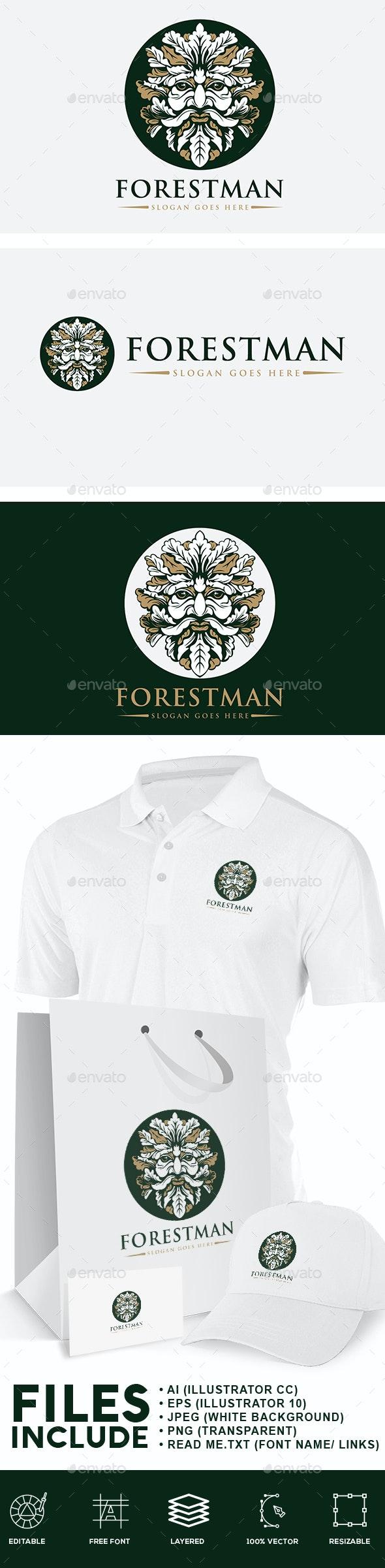 Forest Man Logo - Humans Logo Templates