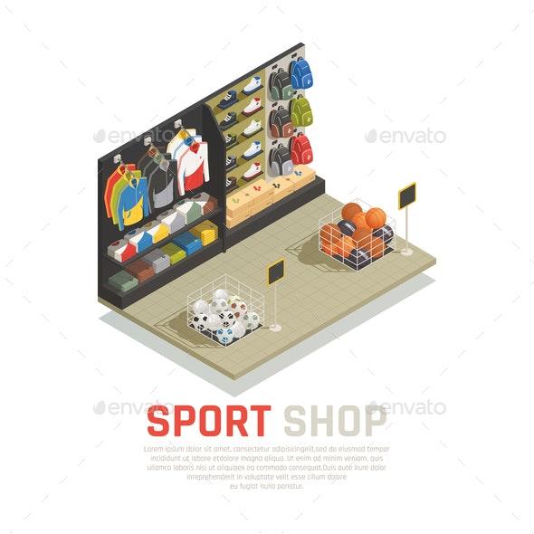 Sport Shop Isometric Composition - Miscellaneous Vectors