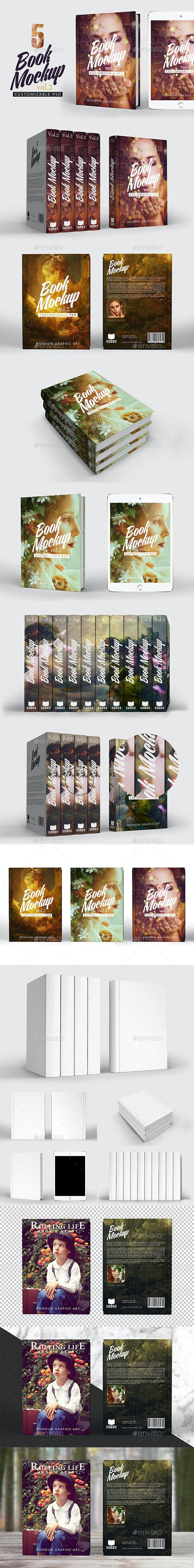 Book Mockup Vol 2 - Product Mock-Ups Graphics