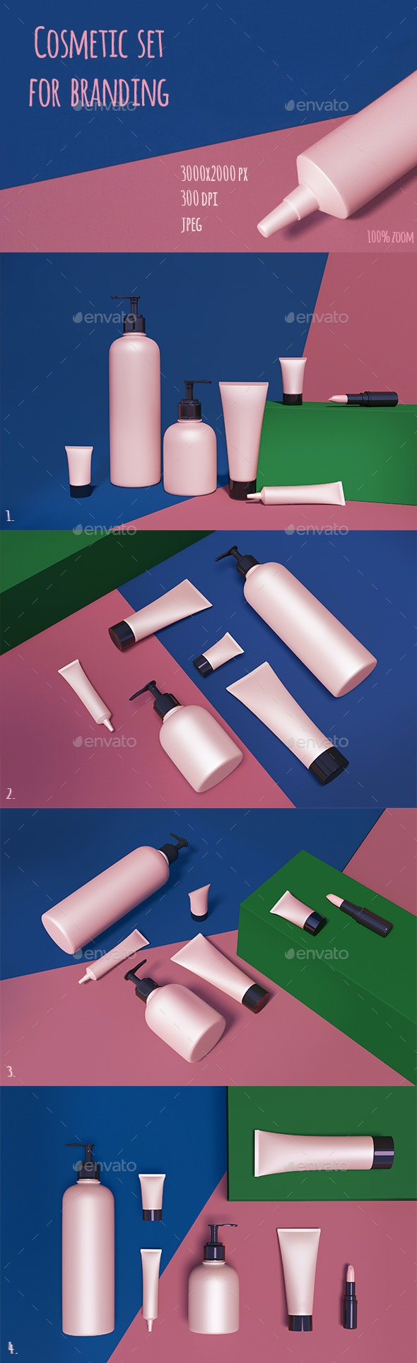 Beauty Products Set - Objects 3D Renders