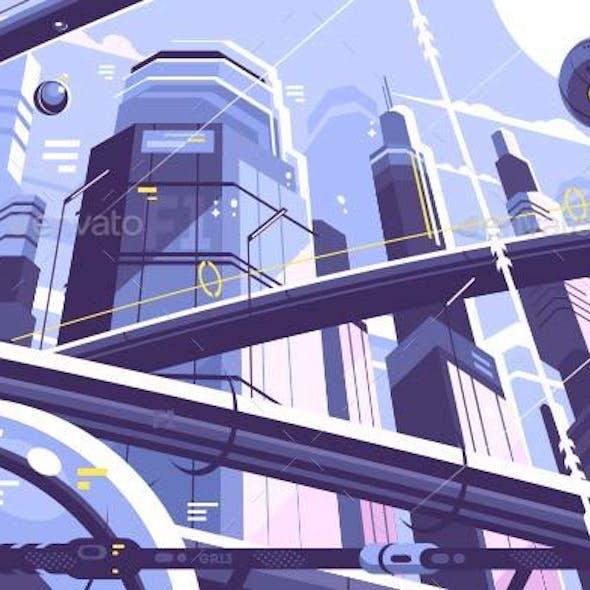 City Metropolis of Future