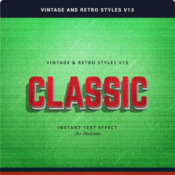 Vintage and Retro Styles V13