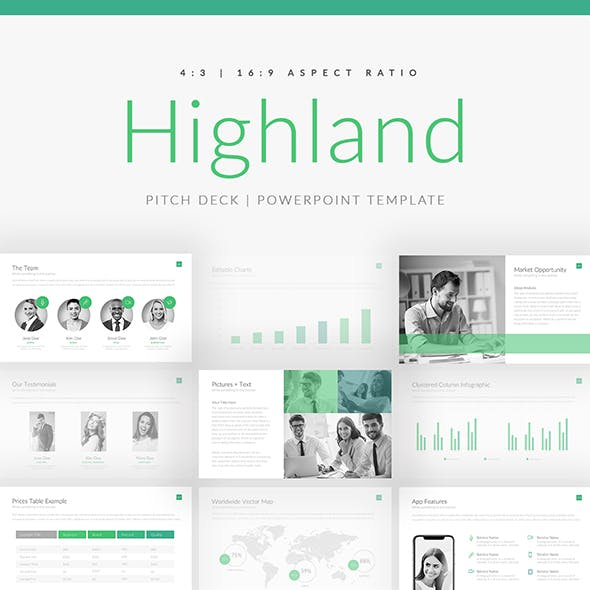 Highland Pitch Deck PowerPoint Template