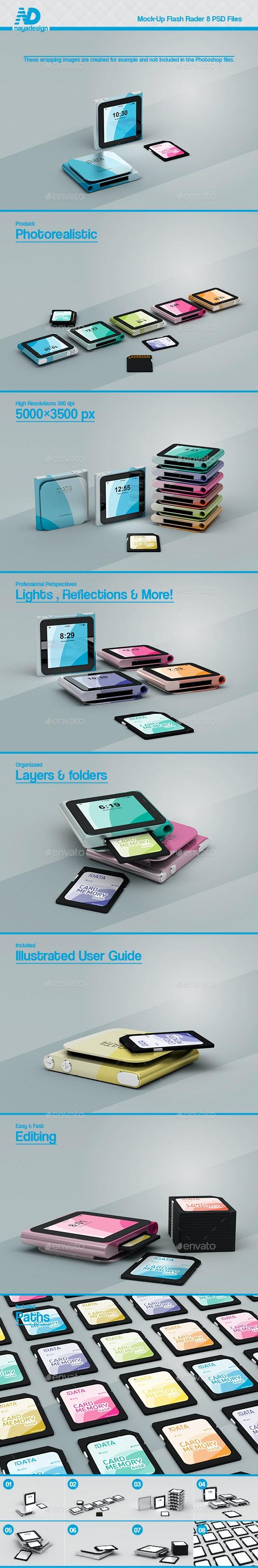 Flash Rader 8 Mockups - Mobile Displays