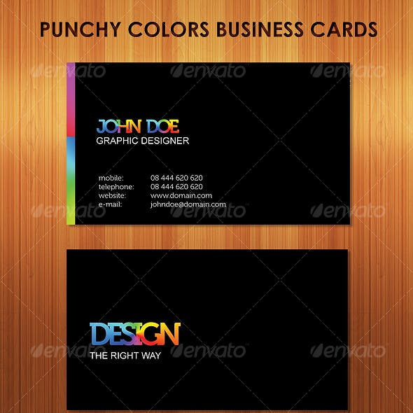 Punchy Colors Clean, Stunning Business Cards