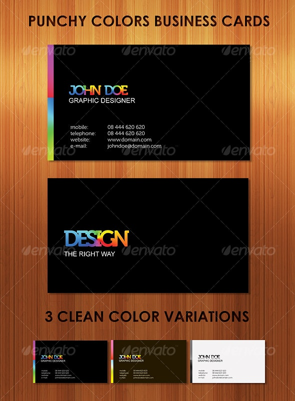 Punchy Colors Clean, Stunning Business Cards - Business Cards Print