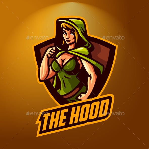 Esports Hoodie Girl Badge