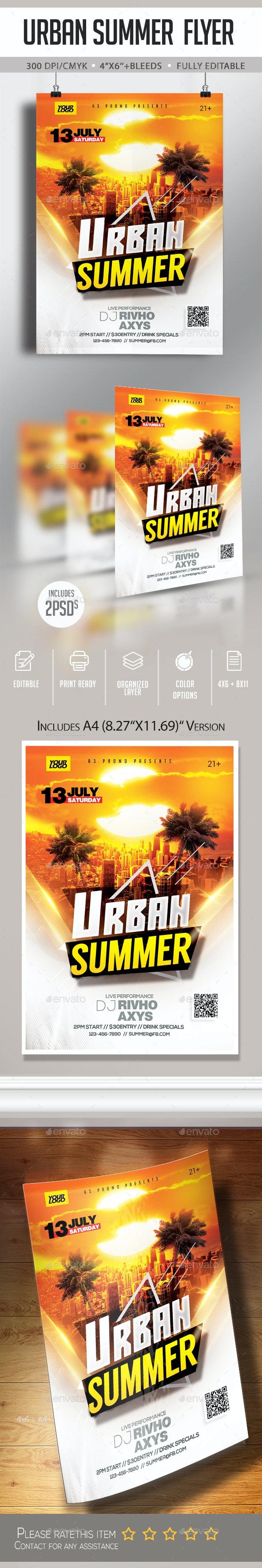 Urban Summer Flyer - Clubs & Parties Events