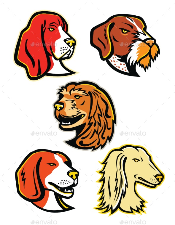 Hound Dogs Mascot Collection - Animals Characters