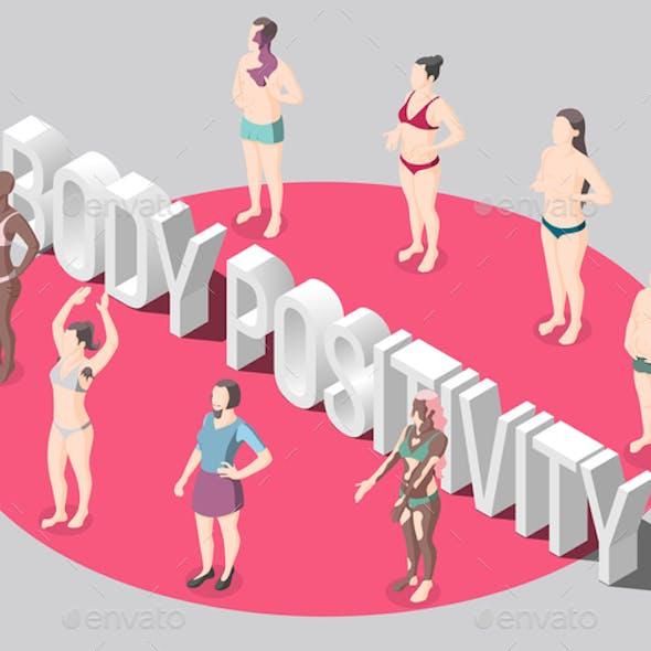 Body Positivity Isometric Poster