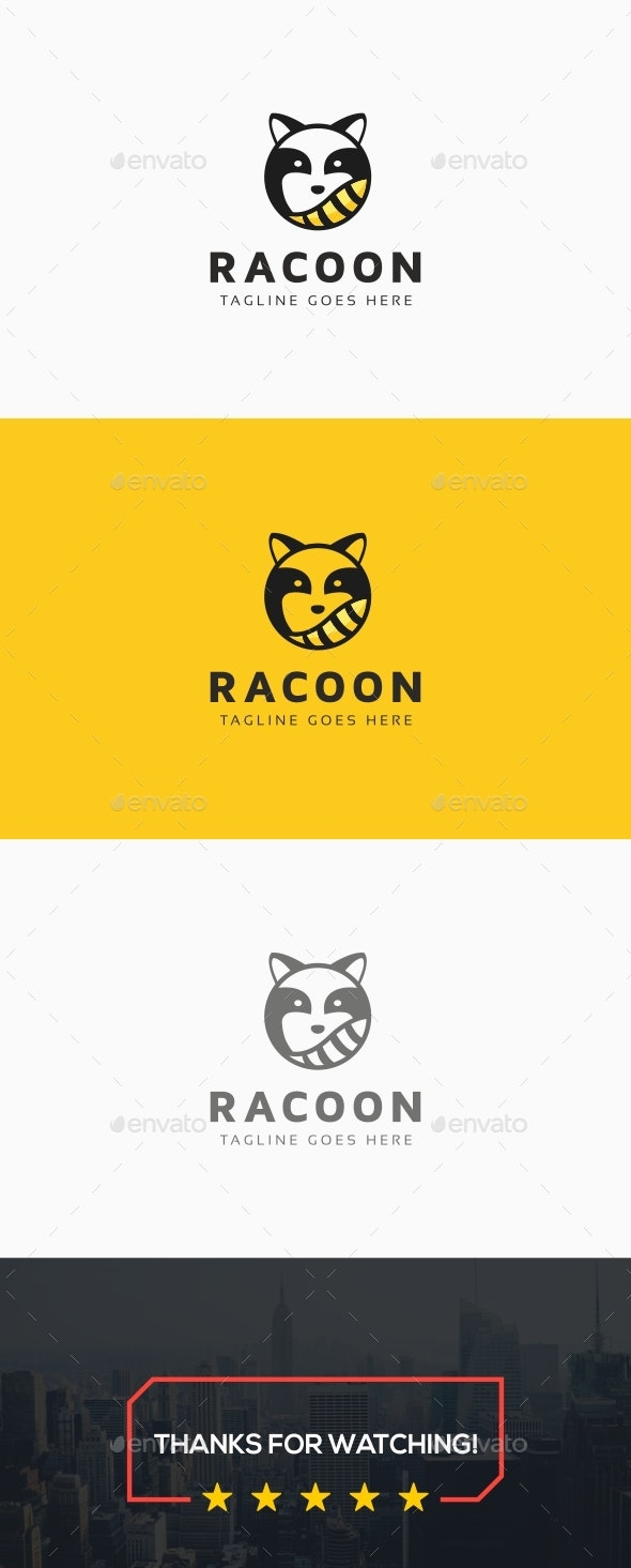 Racoon Logo - Animals Logo Templates