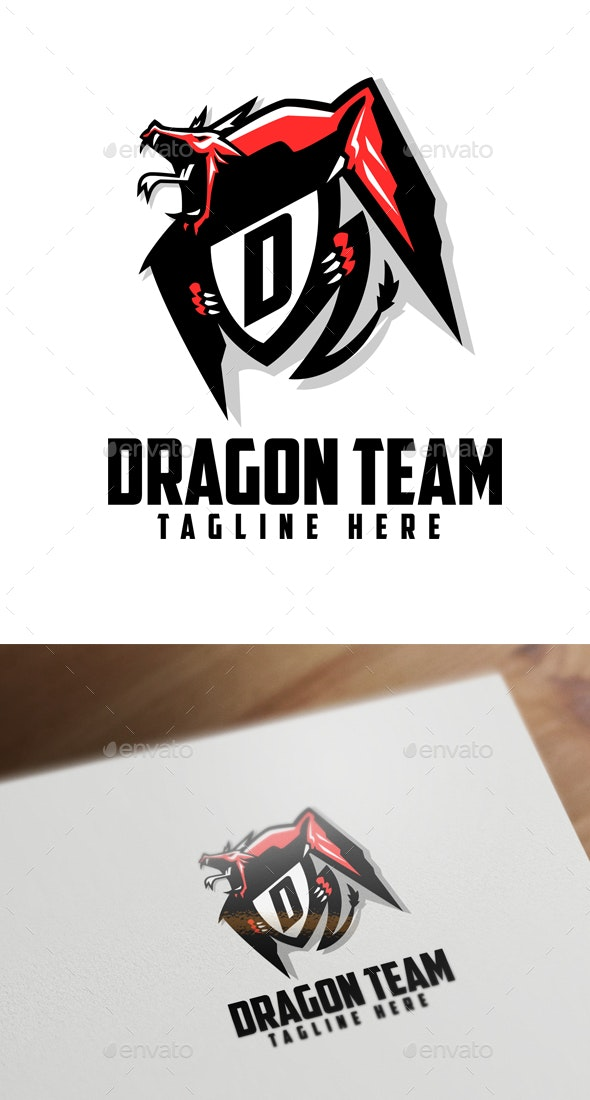 Esports Dragon Badge - Monsters Characters