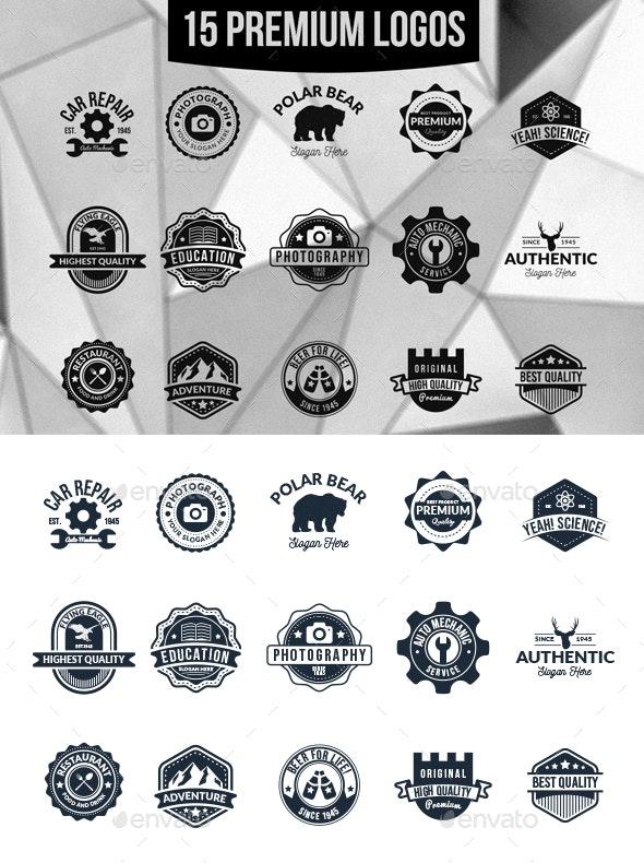15 Premium Badges - Badges & Stickers Web Elements