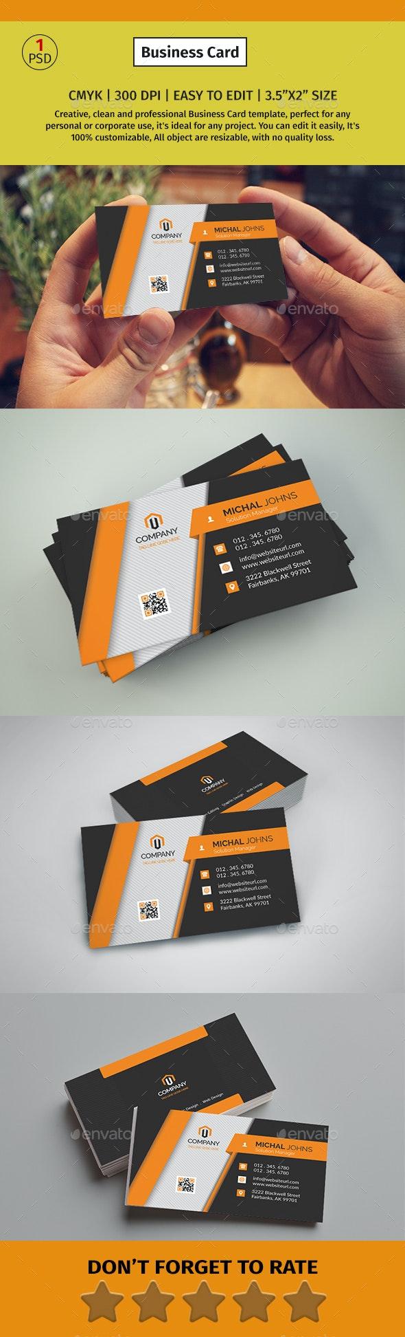 Corporate Business Card #011 - Corporate Business Cards
