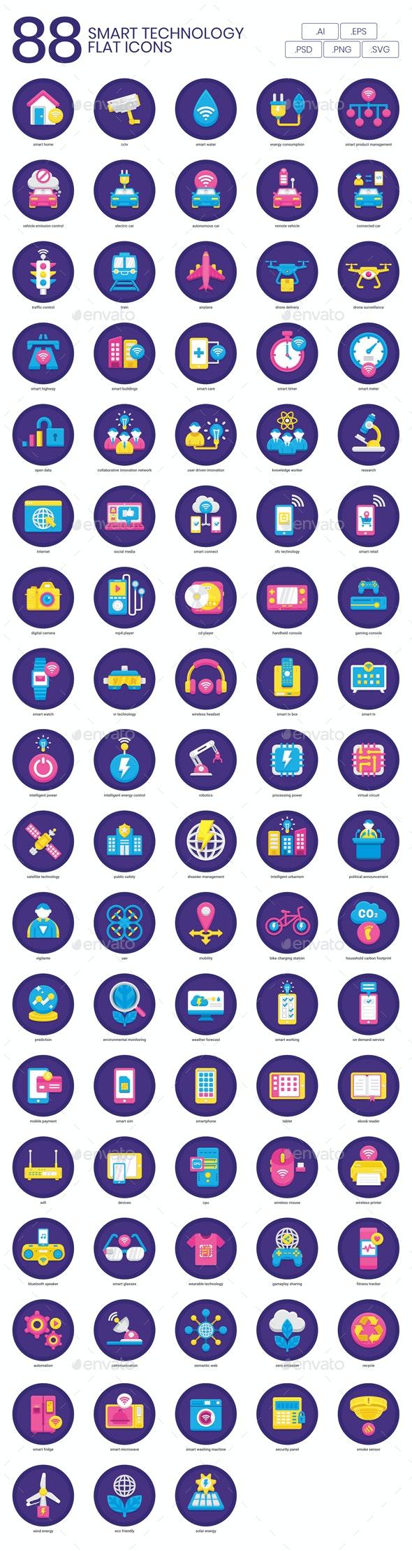 Technology Flat Icons