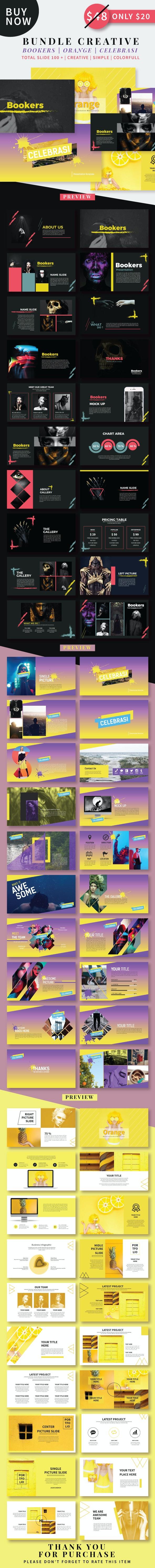 Creative Bundle 3in1 Keynote - Creative Keynote Templates