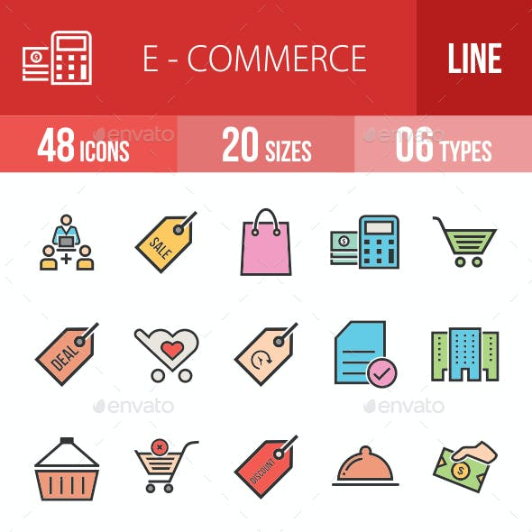 Ecommerce Filled Line Icons