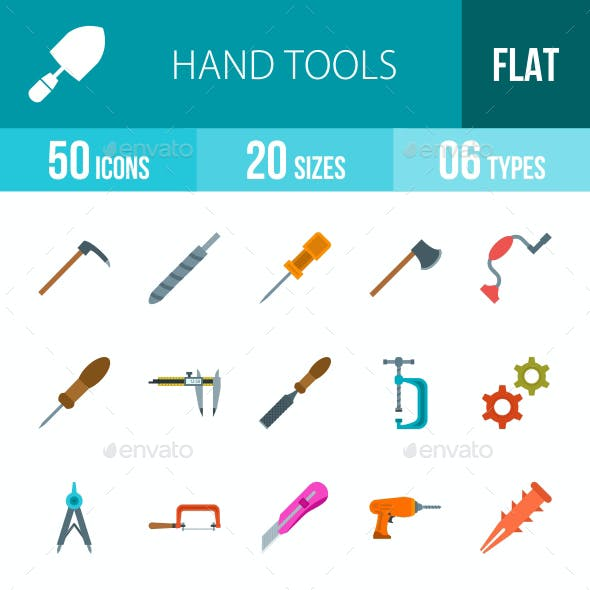 Hand Tools Flat Multicolor Icons
