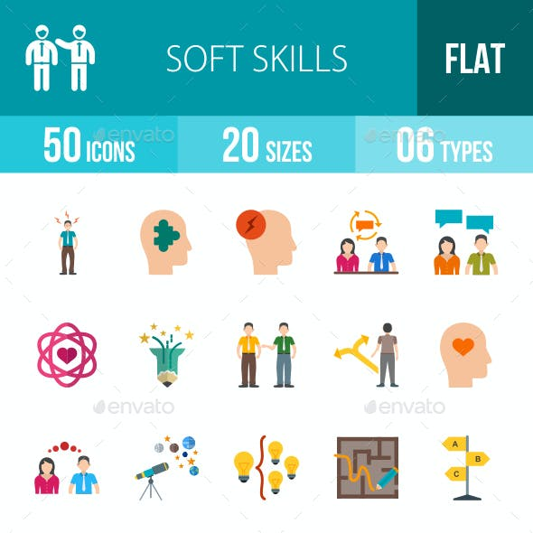 Soft Skills Flat Multicolor Icons