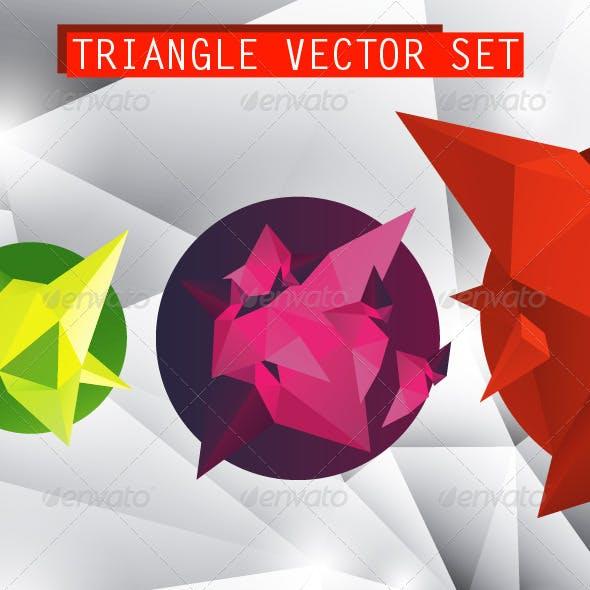 Triangle vector set