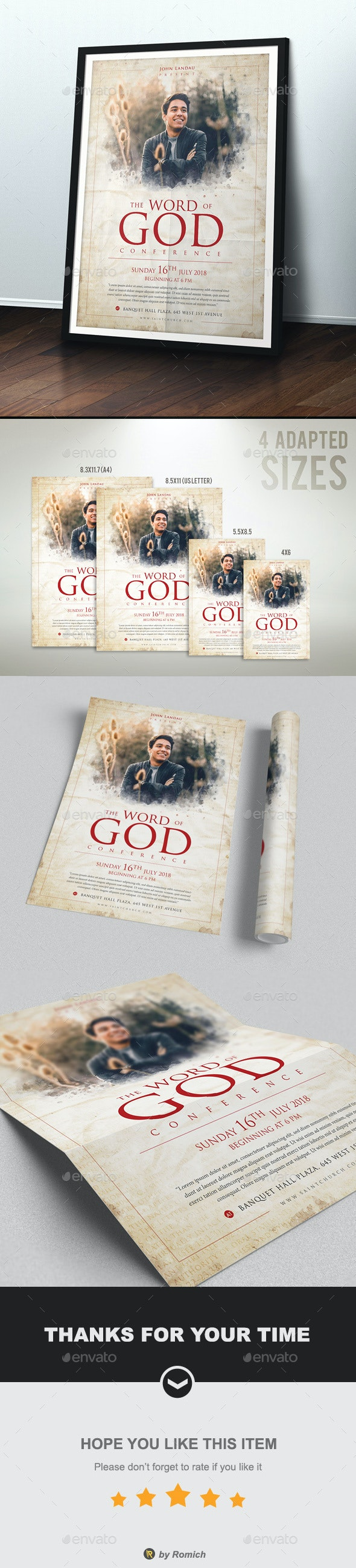 The Word Of God - Church Flyers
