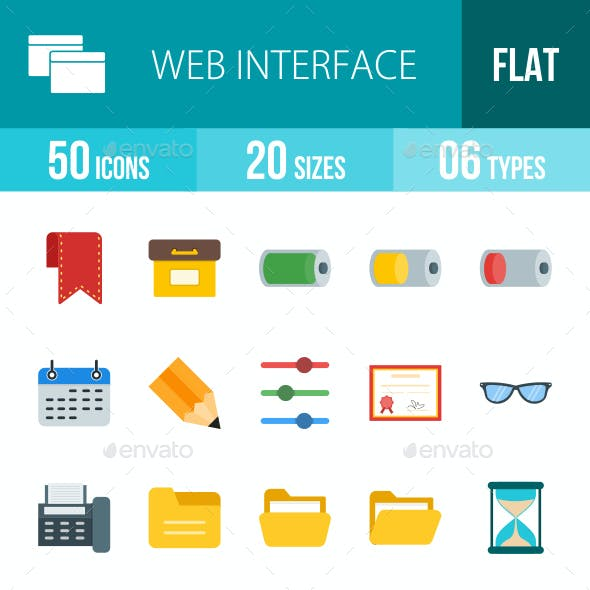 Web Interface Flat Multicolor Icons