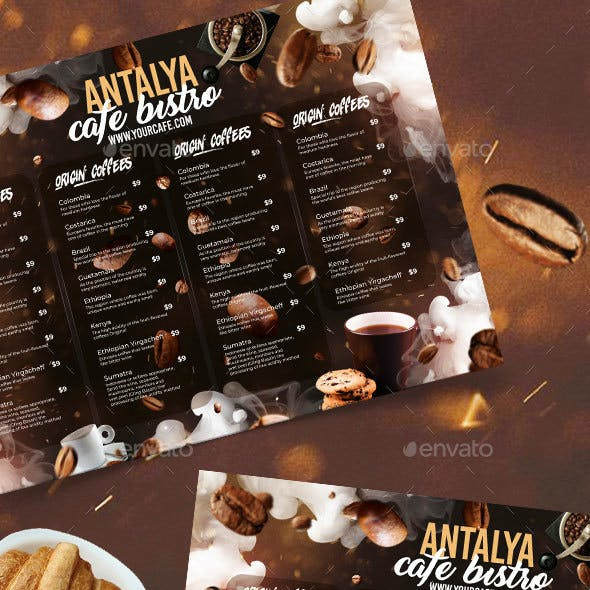 A3 Coffee Mat Menu