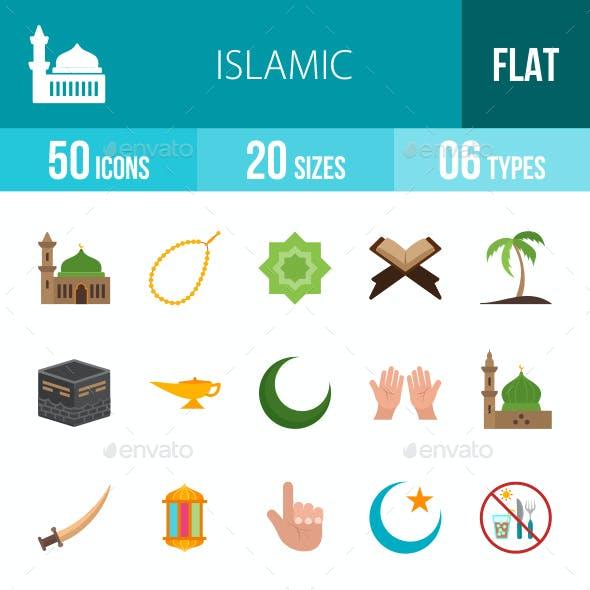 Islamic Flat Multicolor Icons