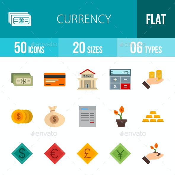 Currency Flat Multicolor Icons