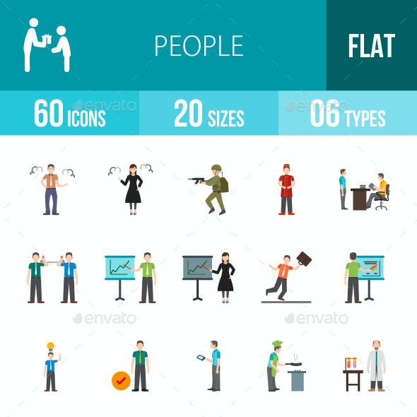People Flat Multicolor Icons