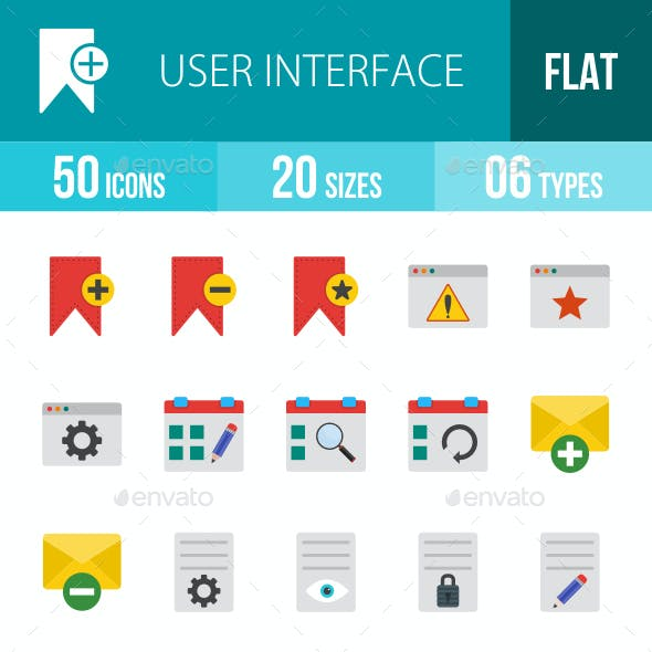 User Interface Flat Multicolor Icons