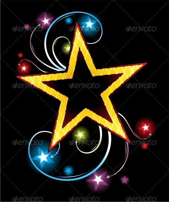 Gold star - Decorative Symbols Decorative