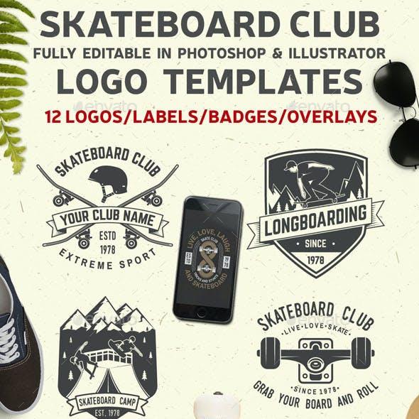 Skateboard Club Badges