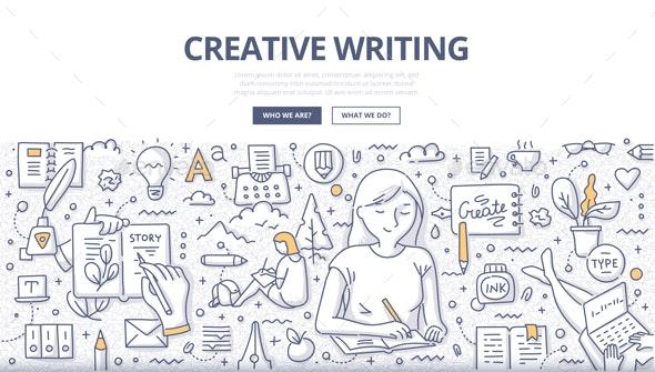 Creative Writing Doodle Concept - Miscellaneous Conceptual